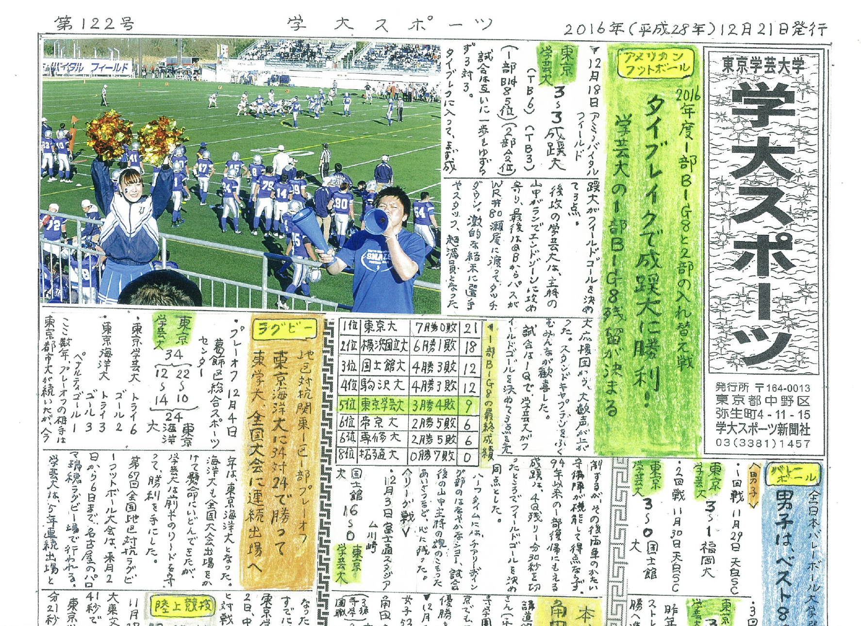 学大スポーツ 第122号