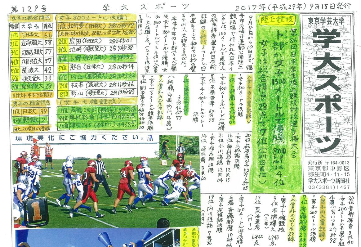 学大スポーツ 第129号