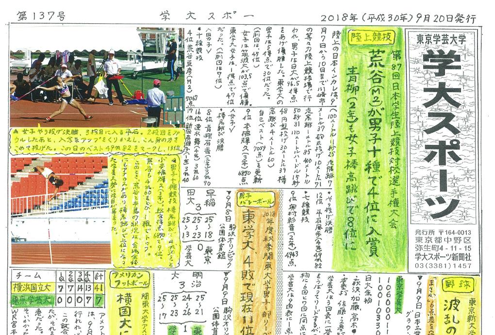 学大スポーツ 第137号